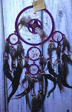 Acchiappasogni Indiani Americani USA Nativi DREAMCATCHER diam 16,5 cm VIOLA