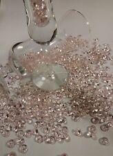 Light Pink 200 PCS  Diamond Confetti  Size 8 mm