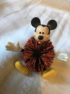 Disney Vintage Mickey Mouse Bundle Toy Figure Ball & Keyring Rare Collectable