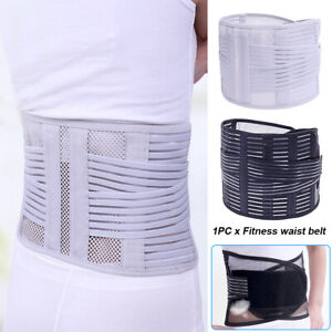 Fitness Belt Gym Bodybuilding Pain Relief Waist Support Double Pull Work Elastic