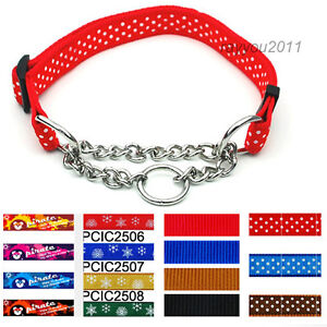 Half Chain Martingale Dog Choke Collar Pet Training Collars for Medium Large Dog