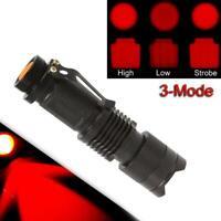 Rotes licht led taschenlampe 3 modi taschenlampe lampe astronomie nachtsicht ca