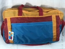 Vintage 90's Color Block Estee Lauder Nylon Tote Duffle Bag NOS (New)