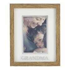Juliana Natural Wood Effect Plastic Frame with Silver Word - Grandma