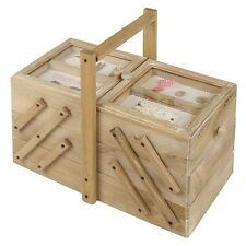 Sewing Box Large Victorian Style Wooden Separate Compartments x 5 Ideal Gift  sc 1 st  eBay & Wooden Sewing Box | eBay Aboutintivar.Com