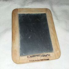 Vintage Hand Held Chalk Board Double Sided Wood Frame 6 x 7 3/4 Inches