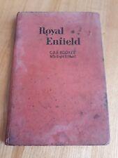 royal enfield motorcycles repair manual owners handbook  C.A.E Booker 1950