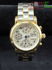 """MONTBLANC MEISTERSTUCK STAINLESS STEEL 10"""" AUTOMATIC WATCH WORKING #6406"""