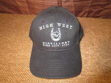 High West Distillery Park City UT Utah Black Ball Cap Hat One Size