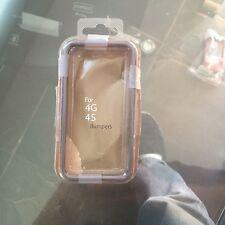 Iphone 4 Orange and Black Cell Phone Bumper NIB