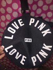 Victorias Secret PINK Duffle Bag Black White LOVE Overnight Weekender Duffel
