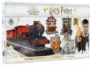Harry Potter 3D Puzzle 543 PCS Hogwarts Express & Diagon Alley 3D Puzzle