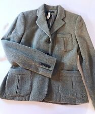 Ralph Lauren NWT Peplum Jacket 4 Green Logo Horse Head Buttons Wool Blend Fitted