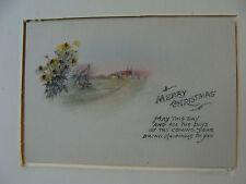 early CHRISTMAS card, signed on back and with matting.