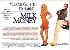 "ORIGINAL CINEMA PRESS SHEET - FOR "" MILK MONEY "" MELANIE GRIFFITH  - ED HARRIS"