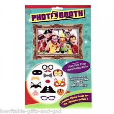 Bambini Photo Booth Kit con 12 POSE FOTO Puntelli Nozze Feste sostegni