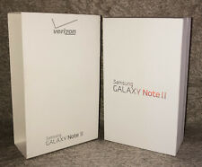 Samsung Galaxy Note Ii Box Only Verizon 16gb w/ Back Case Cover & Manuals