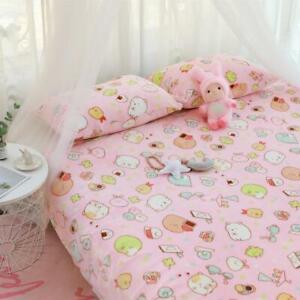 SAN-X Sumikko Gurashi Pink Soft Nap Blanket Cartoon Bedding Sheet Pillow Case
