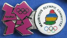 LONDON 2012 Olympic MAURITIUS NOC Internal team - delegation DATED pin