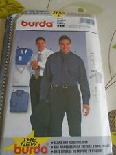 """PATRON"""" BURDA  4 VERSIONS CHEMISE HOMME  TAILLE 37 A 44 N° 2855"""