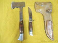 Vintage Western Knife / Hatchet Combo W/ Original Carrier