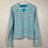 Lululemon Voyage Pullover Tencel Twin Stripe Spry Blue Women's Activewear Size 6