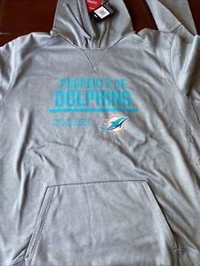 Miami Dolphins XXL Nike Grey Hoodie