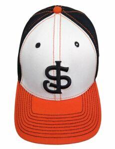 New Era White Black Orange San Jose Giants Minor League Baseball Hat Cap L XL