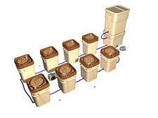 General Hydroponics Water Farm Hydroponic System - 8 Farms + Controller Kit NEW!