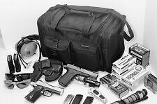 "17""Black SWAT Police Duffle Duty Bag Gun Hunting Carry On Luggage Light Range"