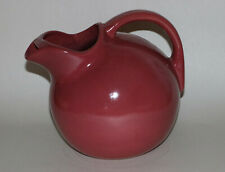 Uhl Pottery Ice Pitcher Burgundy Pink Vintage Pottery Huntingburg, IN - Marked