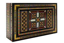 SYRIAN MOSAIC BOX w wood & mother of pearl pieces (large)