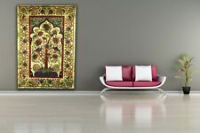 Indian Bedspreads / Wall Hangings - Tree Of Life - Green