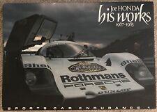 Joe Honda His Works Sports Car Endurance LeMans Photography Book Porsche Japan