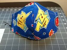 1 Triple Layer Cotton Face Mask W/ Nose Wire and Filter Pocket ♡ POKEMON ♡ Japan