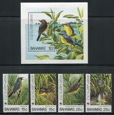 BAHAMAS 1995 WWF Vögel Birds 866-869 + Block 78 ** MNH
