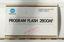 Notice MINOLTA FLASH 2800