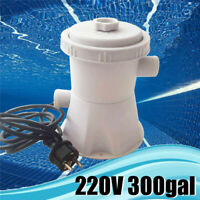 300 GPH Filter Pump Cartridge Swimming Pool Water Cleaning Circulation