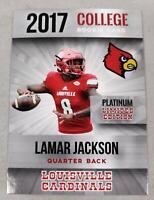 2017 LAMAR JACKSON PLATINUM VERY FIRST LOUISVILLE ROOKIE CARD BALTIMORE RAVENS!