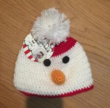 So Dorable ~ Hand Crocheted Hat ~ SNOWMAN ~ 6-12 M ~ NWT