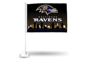 Baltimore Ravens NFL Licensed 11X14 Window Mount 2-Sided Car Flag FREE US SHIP