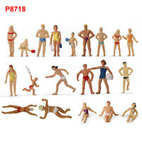 40pcs HO Scale Swimming Figures 1:87 Seaside Visitors Swimming People P8718