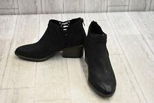 Fergalicious Wisdom Faux Suede Ankle Booties, Women's Size 6.5M, Black NEW