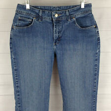 6f8182a6 Lee Riders petite womens 12P stretch blue medium wash mid rise straight  jeans