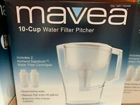 Mavea 10 Cup Pitcher With 2 Filter, NEW