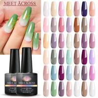 MEET ACROSS 8ml UV Gel Varnish Soak Off Nail Art Gel Polish Manicure 6Bottles