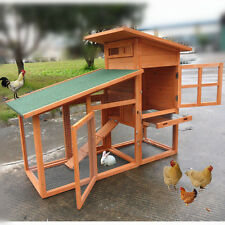 "US 56"" Wooden Chicken Coop Backyard Poultry Ark Hen House Hutch Run Nest Cages"