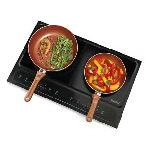 VonShef Twin Induction Hob Double Portable Electric Digital Dual Hot Plate 2800W