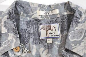Marc Edwards Rayon Hawaiin short sleeve shirt Mens XL