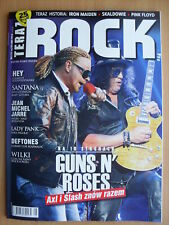 GUNS N' ROSES on front cover Polish Magazine 5/2016 Rammstein,Santana,Deftones